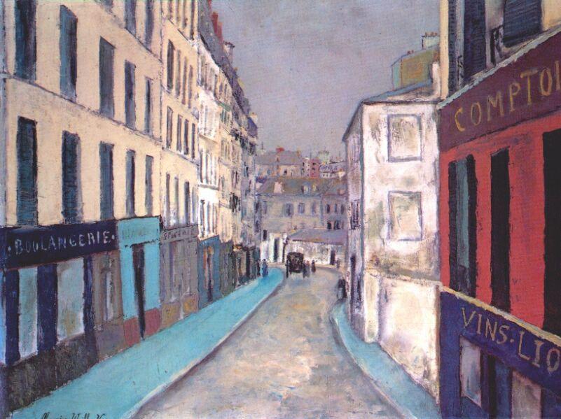 Marcadet street - Maurice Utrillo