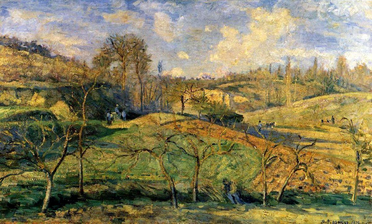 March Sun, Pontoise - Camille Pissarro