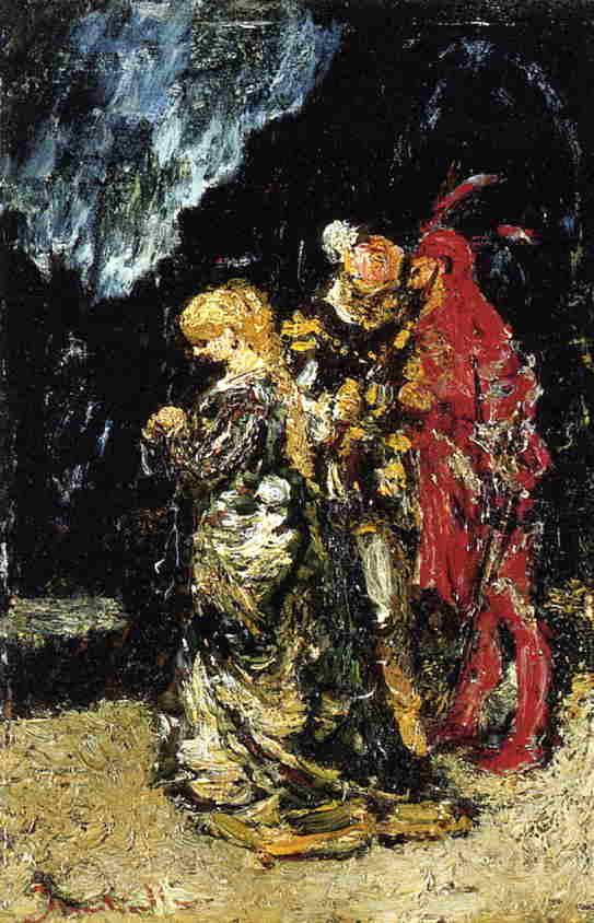 Margaree, Faust and Mephisto - Adolphe Joseph Thomas Monticelli