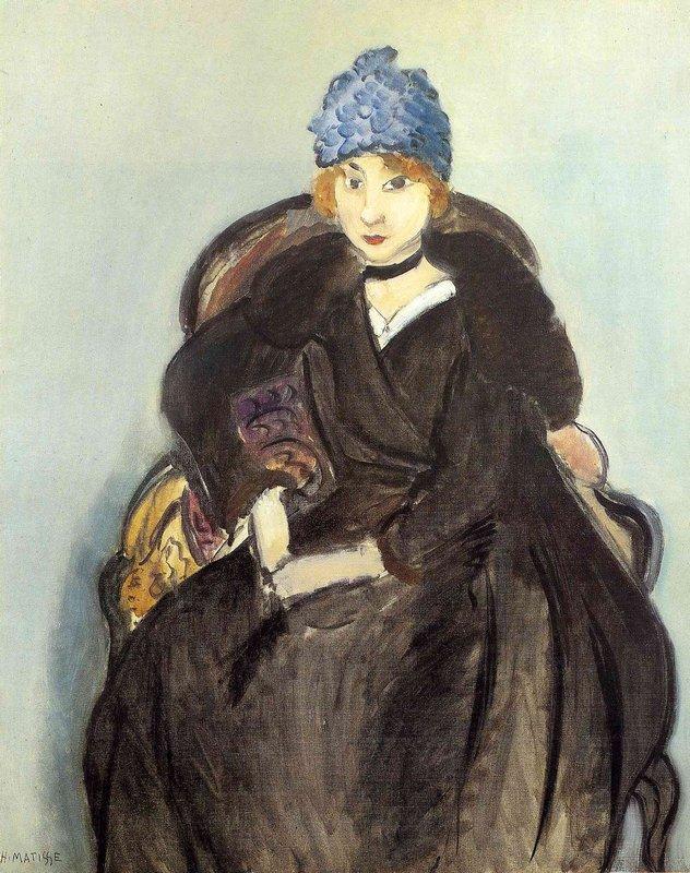 Marguerite Wearing a Hat - Henri Matisse