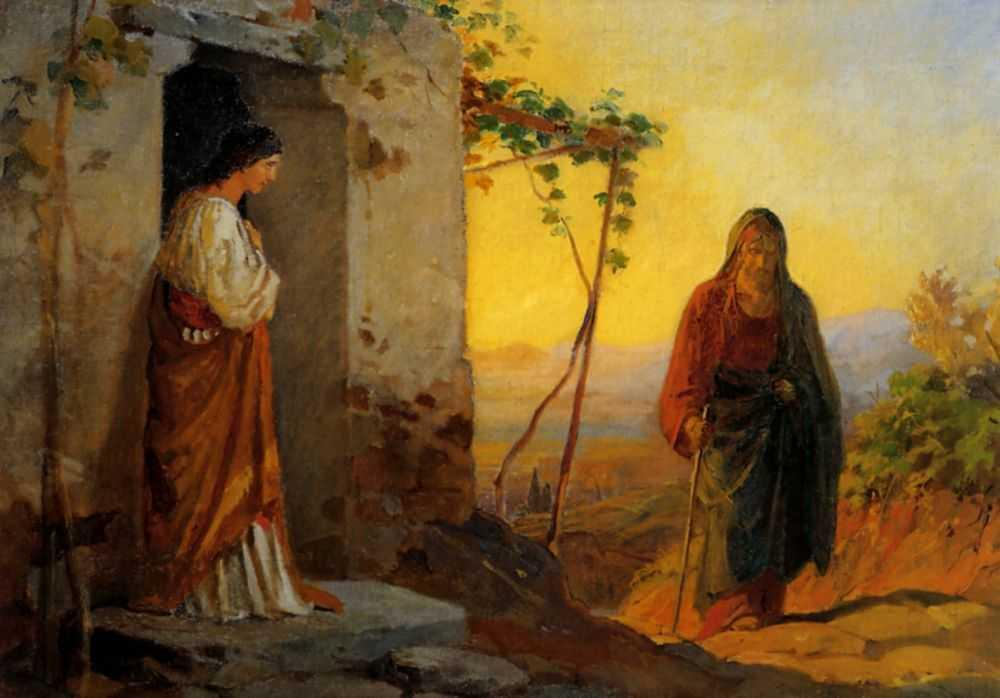 Maria, sister of Lazarus, meets Jesus who is going to their house - Nikolai Ge
