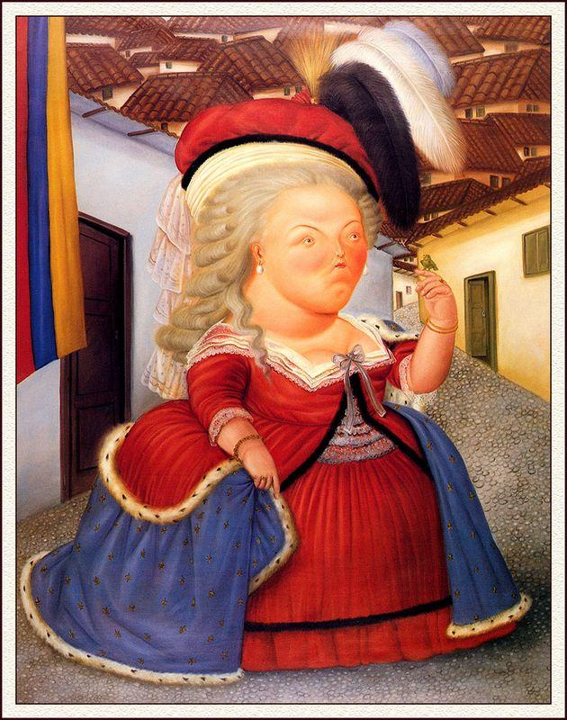 Marie Antoinette on a Visit to Medellin - Fernando Botero