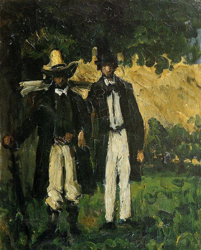 Marion and Valabregue Posing for a Picture - Paul Cezanne