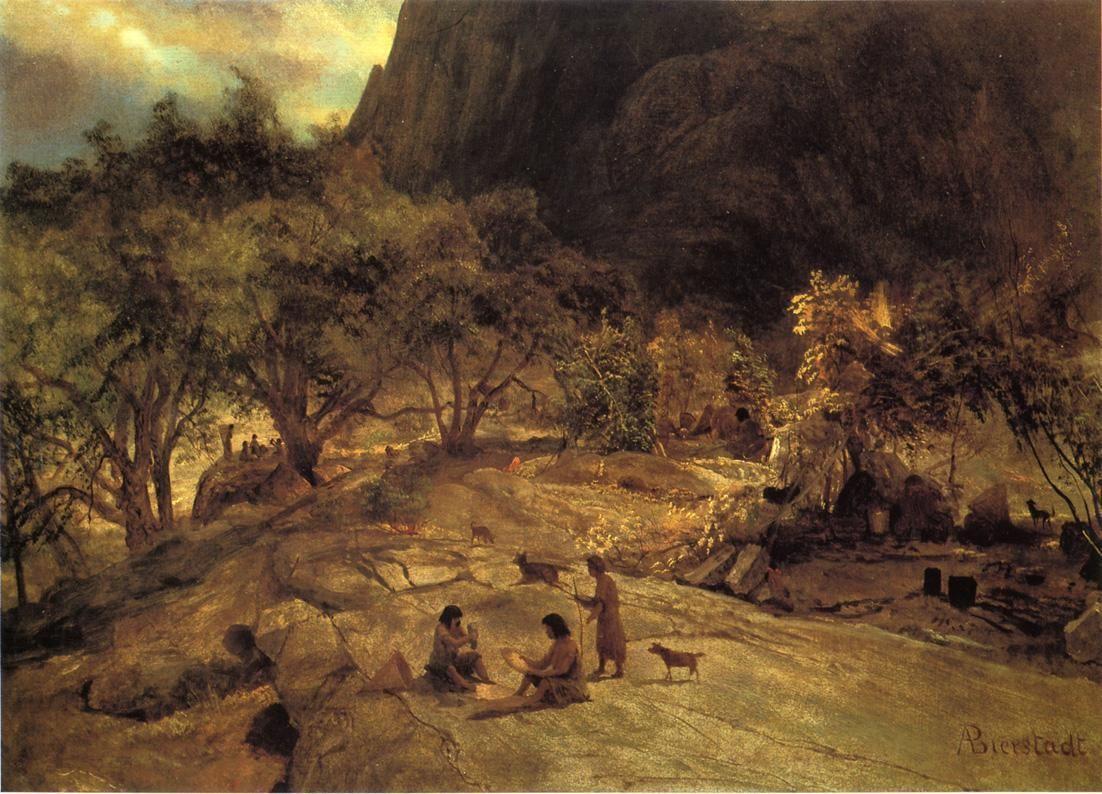 Mariposa Indian Encampment, Yosemite Valley, California - Albert Bierstadt