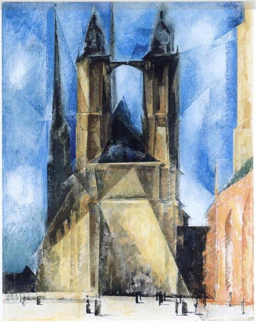 Market Church in Halle  - Lyonel Feininger