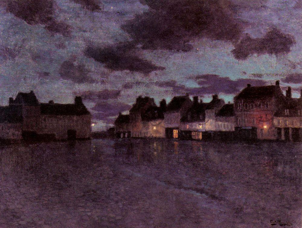 Marketplace in France, after a Rainstorm - Frits Thaulow