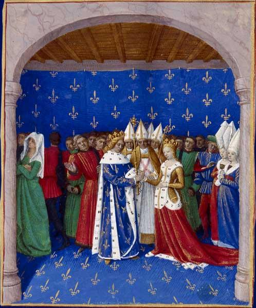 Marriage of Charles IV and Marie of Luxembourg - Jean Fouquet
