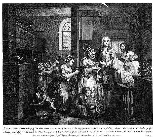 Married to an Old Maid - William Hogarth