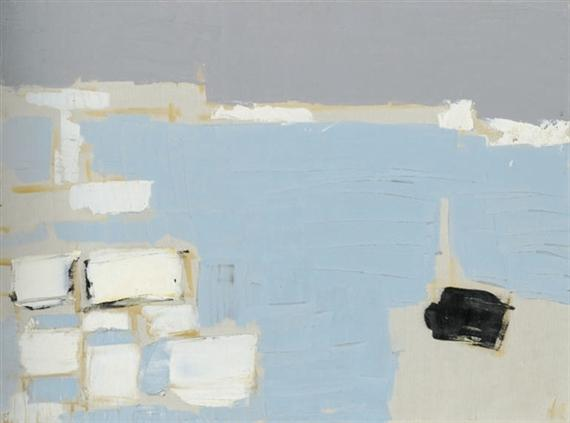 Marseille under snow - Nicolas de Stael