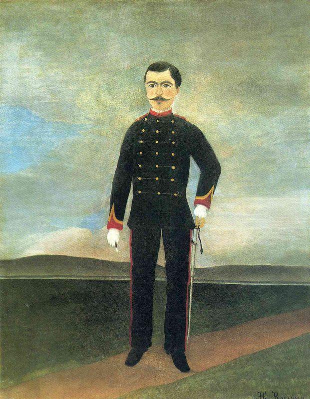 Marshal des Logis Frumence Biche of the 35th Artillery - Henri Rousseau