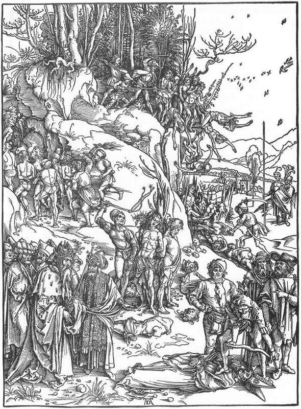 Martyrdom of the Ten Thousand - Albrecht Durer