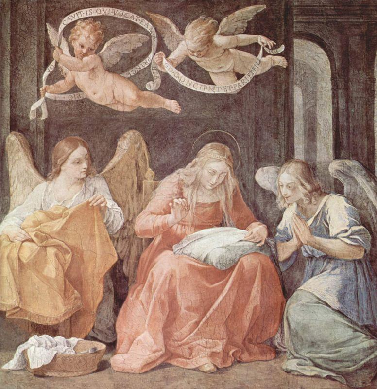 Mary and angels - Guido Reni