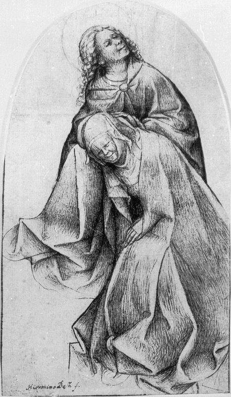 Mary and John (Mary and John at the Foot of the Cross) - Hieronymus Bosch
