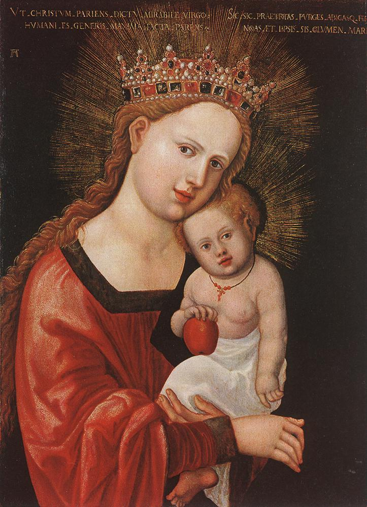 Mary with the Child - Albrecht Altdorfer
