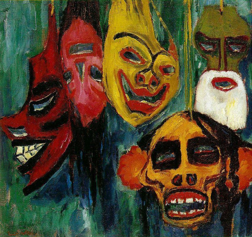 Mask Still Life III - Emil Nolde