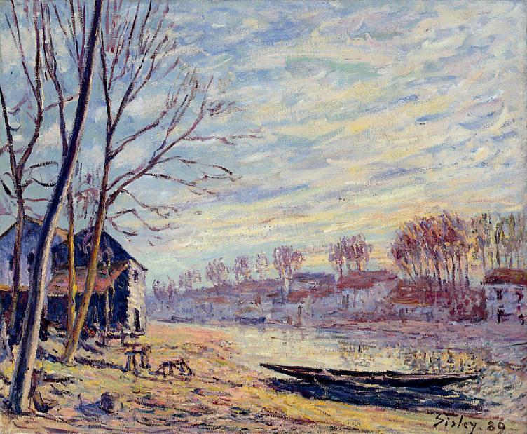 Matrat Cottages - Alfred Sisley
