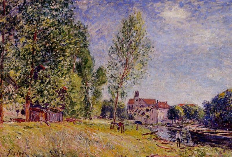 Matratat s Boatyard, Moret sur Loing - Alfred Sisley