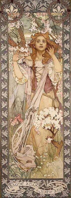 Maude Adams as Joan of Arc - Alphonse Mucha