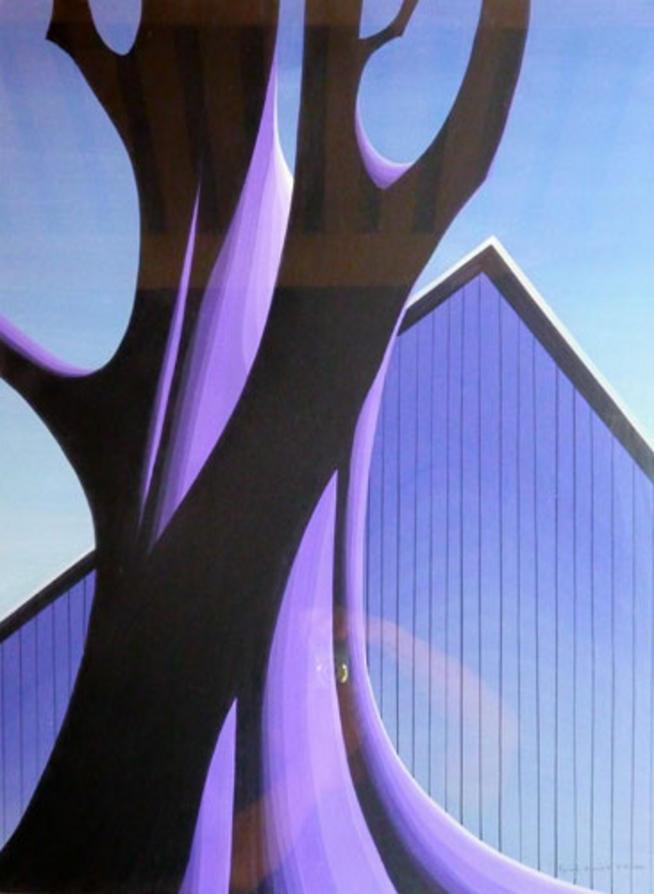 Mauve Barn - Eyvind Earle
