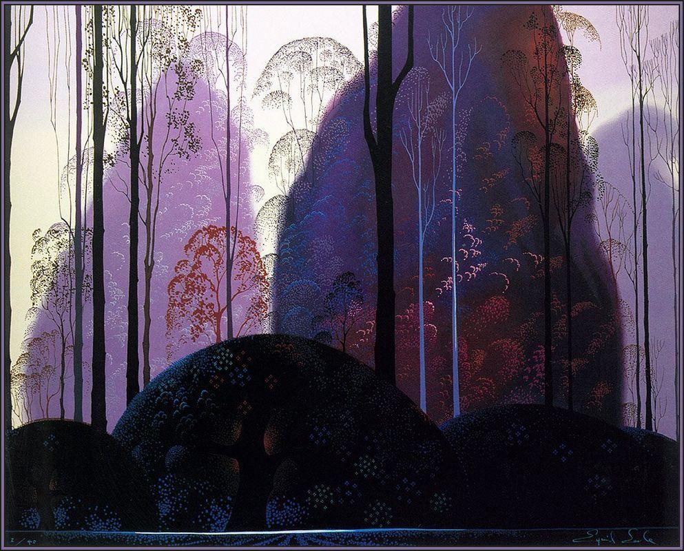 Mauve Redand Purple - Eyvind Earle