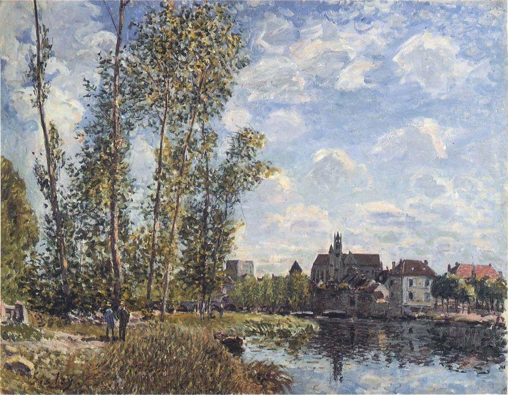 May Afternoon on the Loing - Alfred Sisley