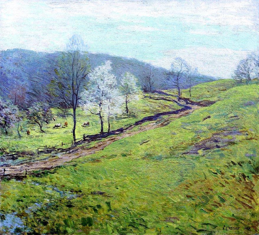 May Afternoon - Willard Metcalf