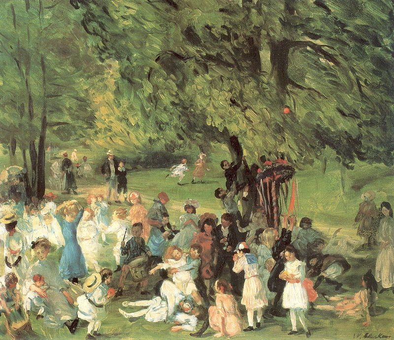 May Day in Central Park - William James Glackens