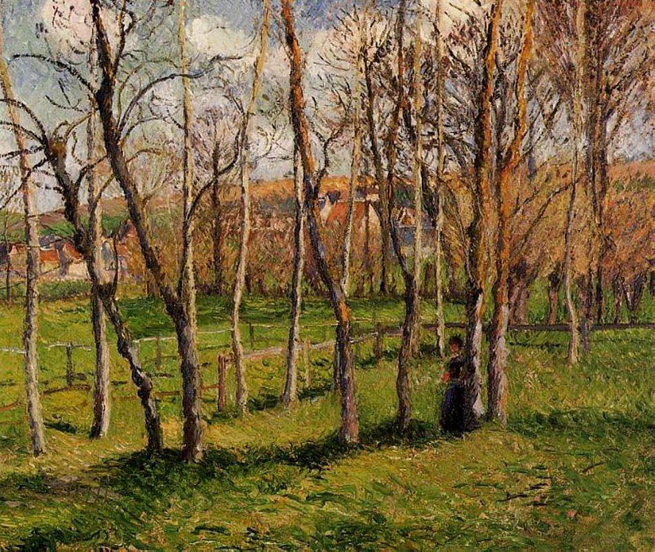 Meadow at Bazincourt - Camille Pissarro