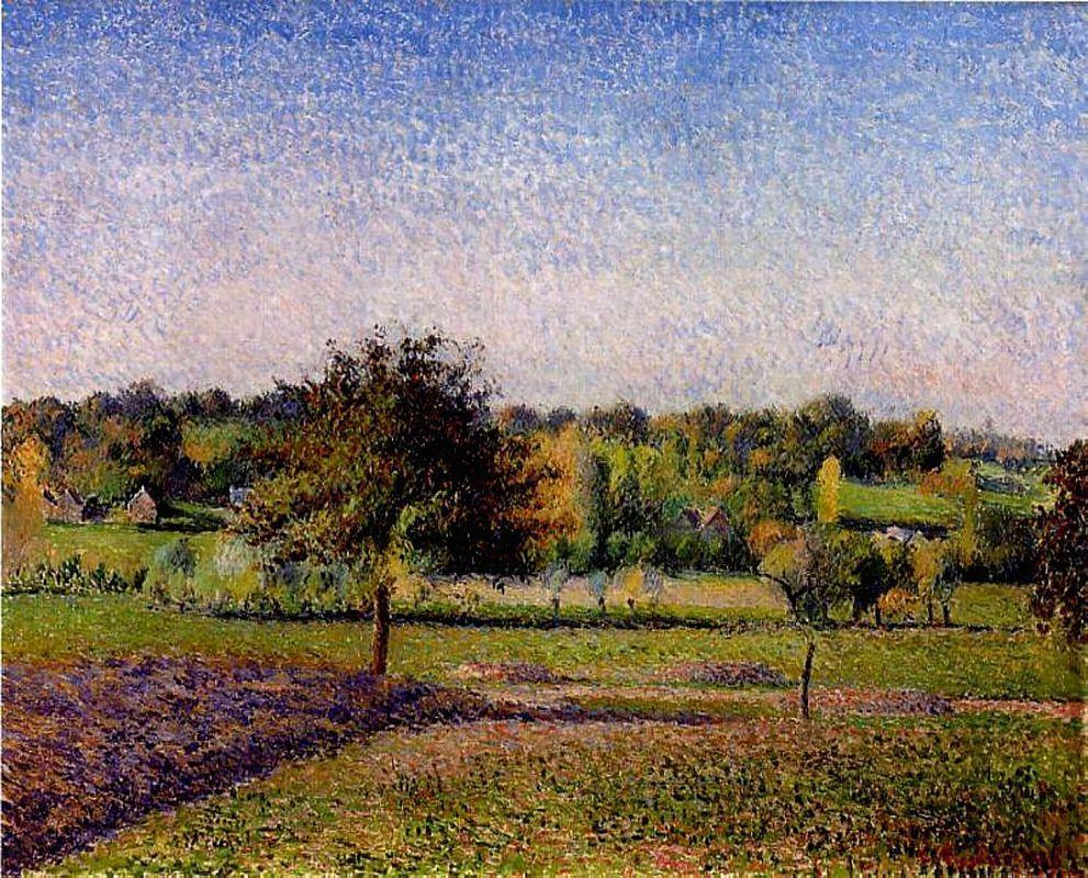 Meadows at Eragny - Camille Pissarro