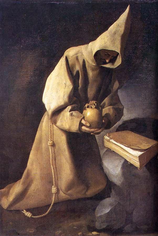 Meditation of St. Francis - Francisco de Zurbaran