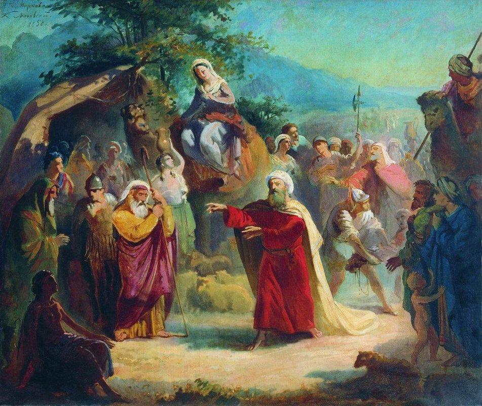 Meeting of Isaac and Eleazar - Konstantin Makovsky