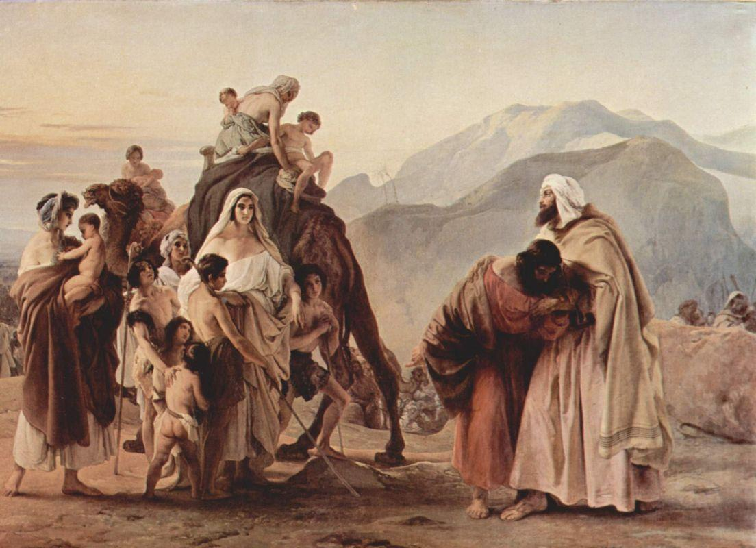 Meeting of Jacob and Esau - Francesco Hayez