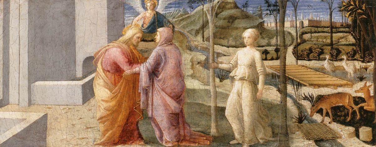 Meeting of Joachim and Anne at the Golden Gate - Filippo Lippi