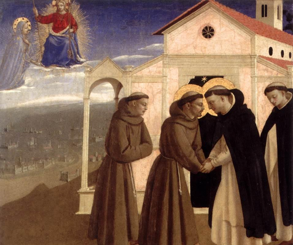 Meeting of St. Francis and St. Dominic - Fra Angelico