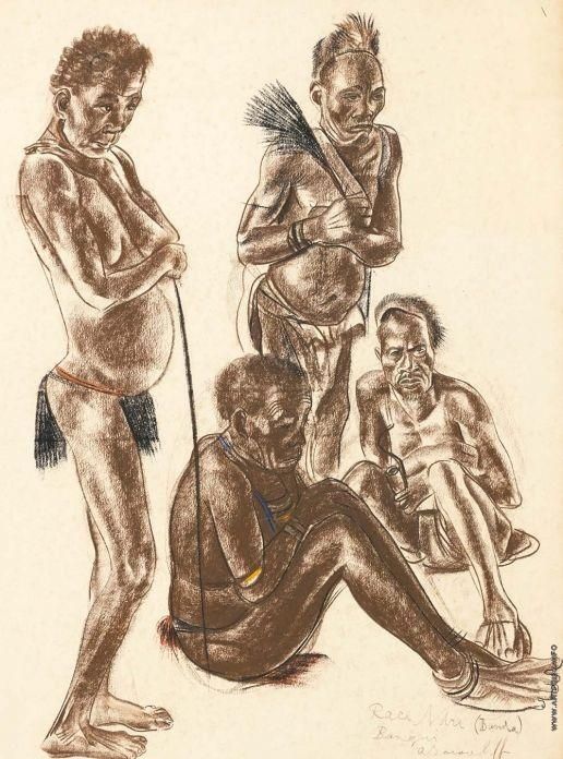 Men of the Banda Tribe - Alexandre Jacovleff
