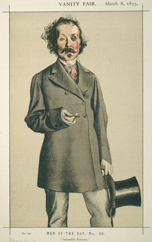 Men of the Day No.580 Caricature of Mr.Thomas Mayne Reid - James Tissot