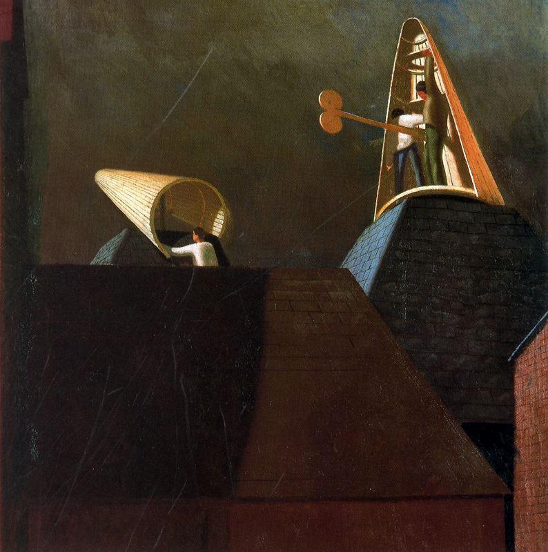 Mending Cowls, Cookham - Stanley Spencer