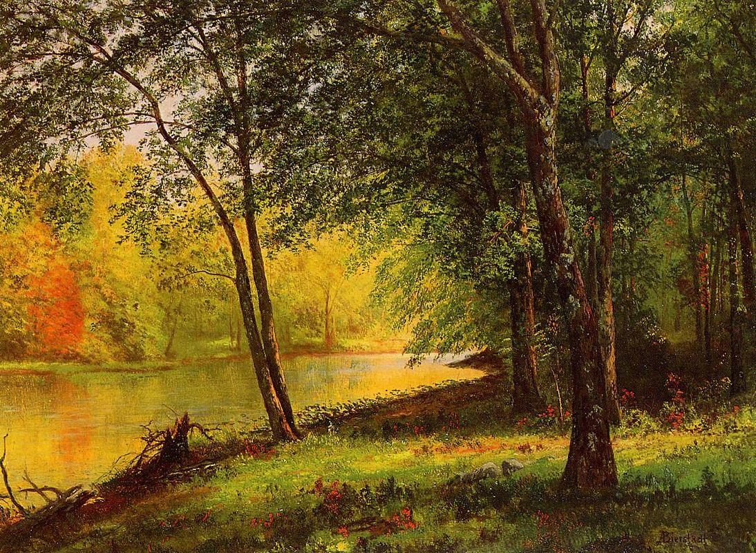 Merced River, California - Albert Bierstadt