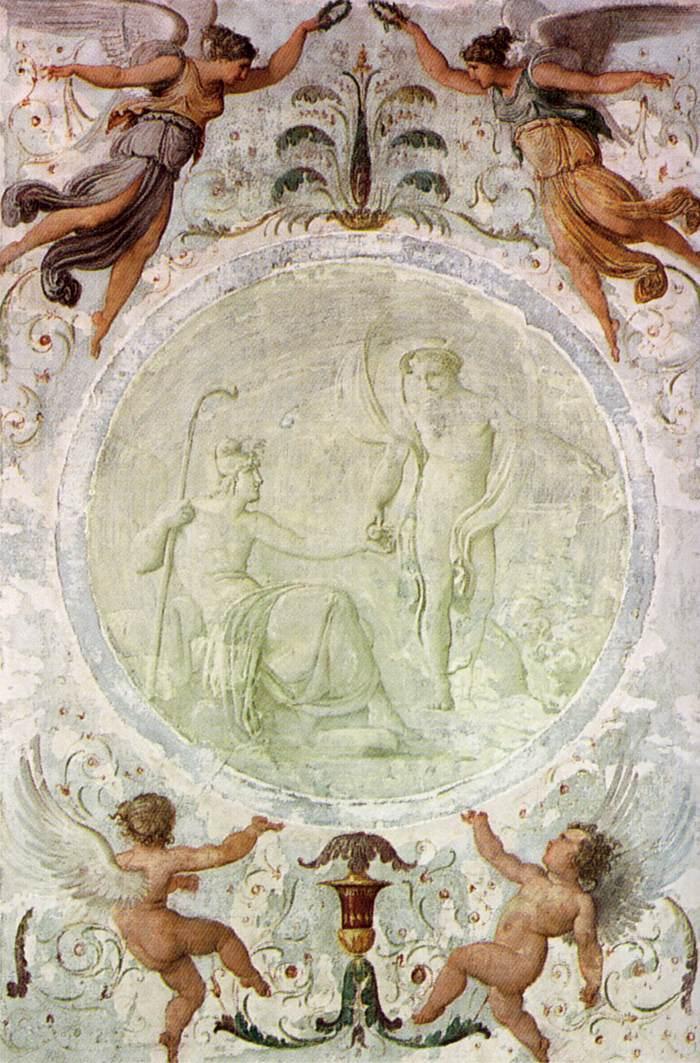 Mercury Gives Paris the Apple of Discord - Francesco Hayez