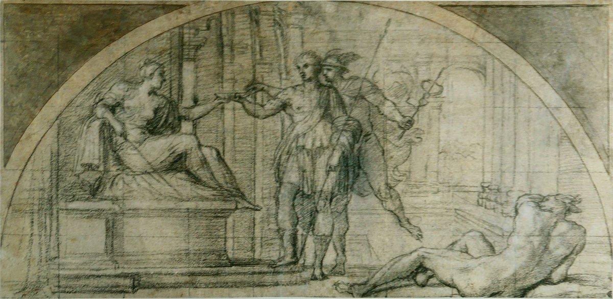 Mercury protecting Ulysses from the charms of Circe - Annibale Carracci