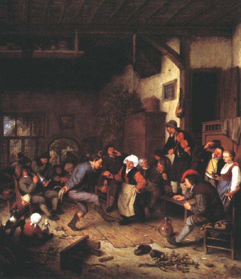 Merrymakers in an Inn - Adriaen van Ostade