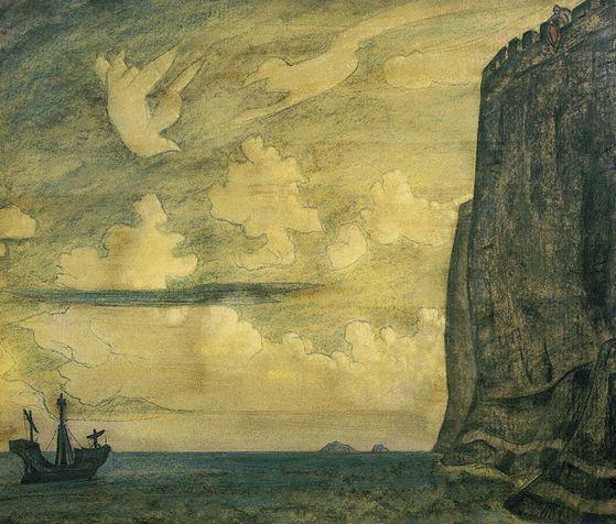 Messenger. Island. - Nicholas Roerich
