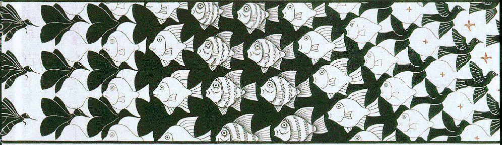 Metamorphosis II excerpt 4 - M.C. Escher