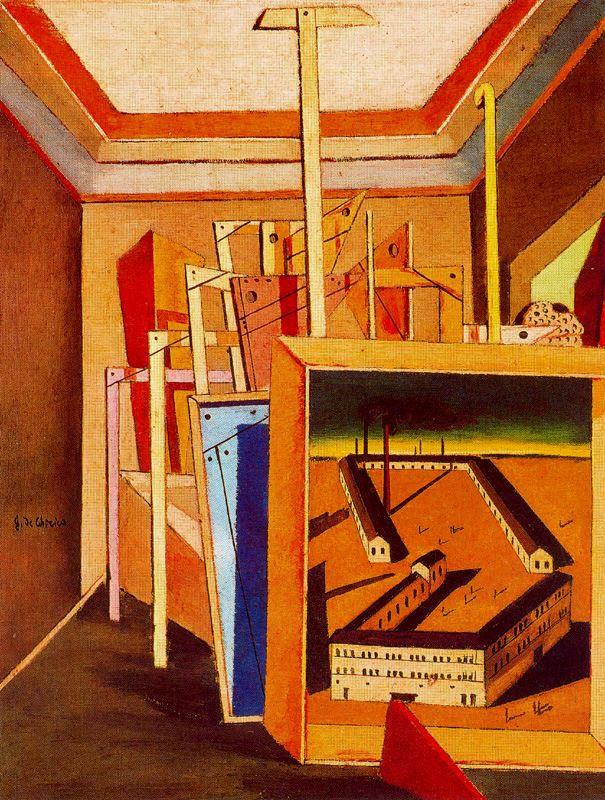 Metaphysical Interior of studio - Giorgio de Chirico