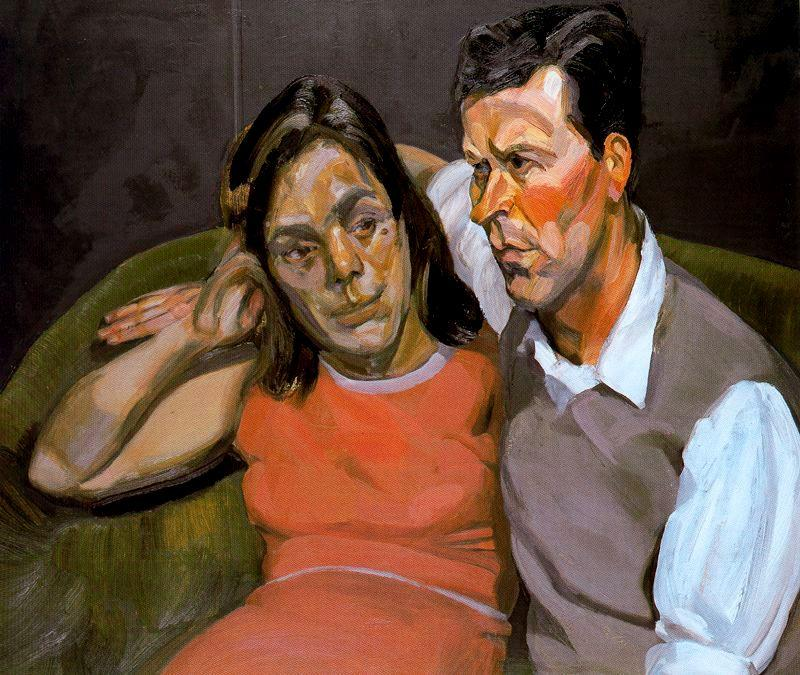 Michael Andrews and June - Lucian Freud