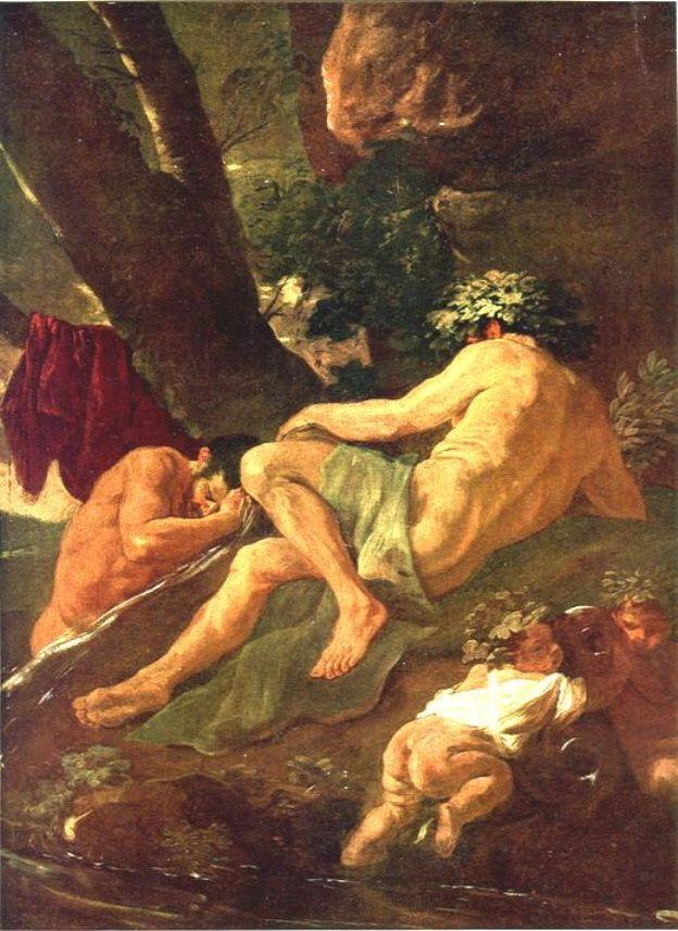 Midas washing at the source of the River Pactolus - Nicolas Poussin