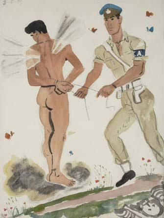 Military Policeman arresting the spirit  - Yiannis Tsaroychis