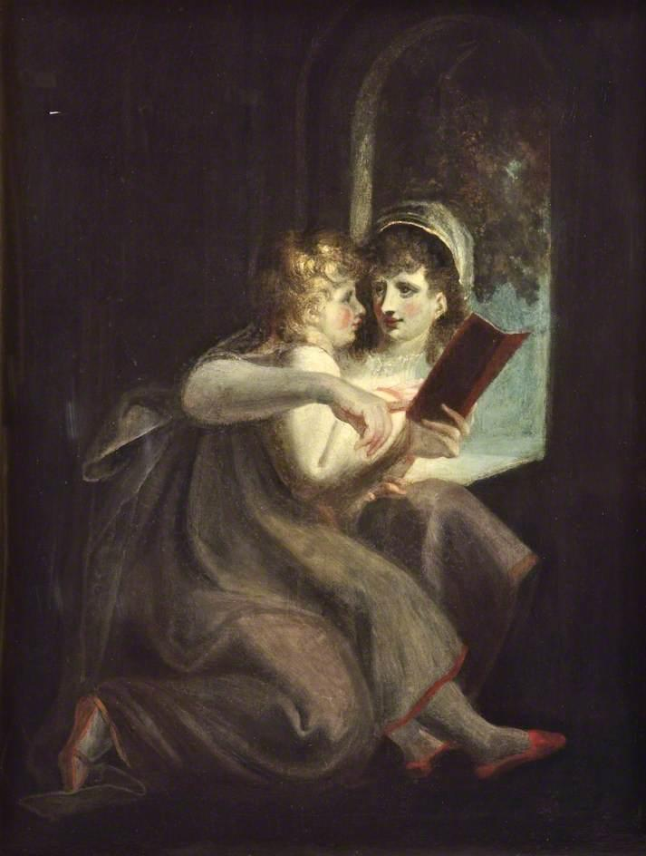 Milton When a Boy Instructed by His Mother - Henry Fuseli