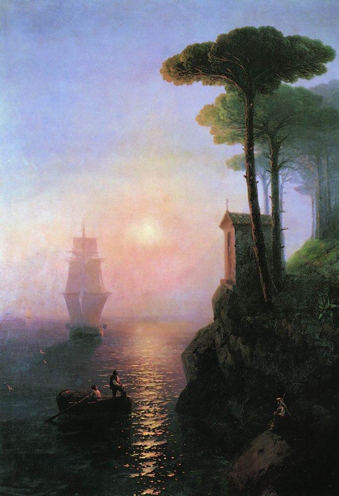 Misty morning in Italy - Ivan Aivazovsky