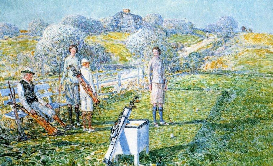 Mixed Foursome - Childe Hassam